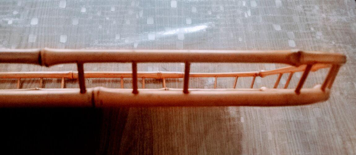 Plateau de service en bambou