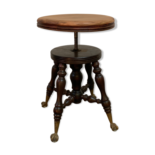 Ancien tabouret de Piano New York piano stool M.F.G