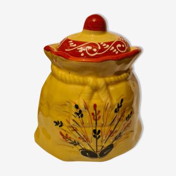 Pot with condiment earthenware decoration provençal