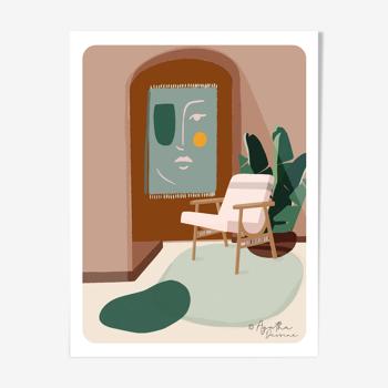 """Illustration """" Interior Mood"""" A4"""