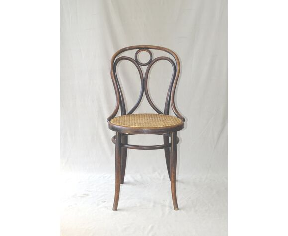 Chaise Thonet N°19 cannée ca 1890, noir Empire