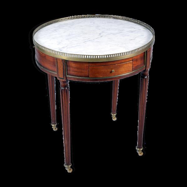 Table bouillotte en acajou d'époque Louis XVI 18e siècle