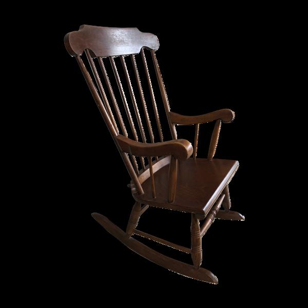 Rocking-chair à barreaux vintage, 1960