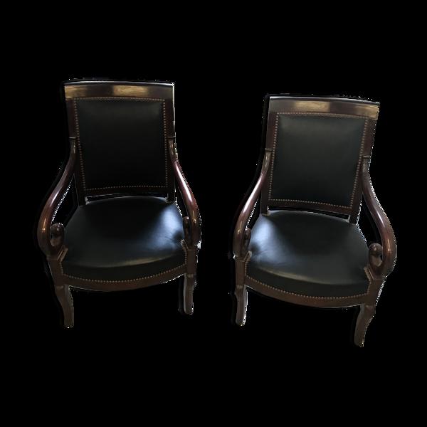 Paire de fauteuils époque Restauration