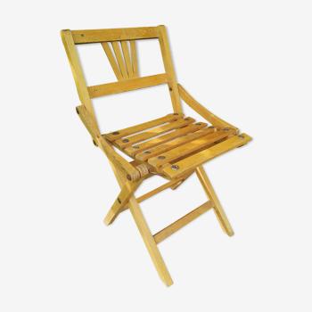 Chaise pliante enfant 40 50 loft vintage pieds compas
