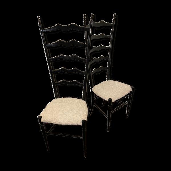 Paire de chaises chiavari