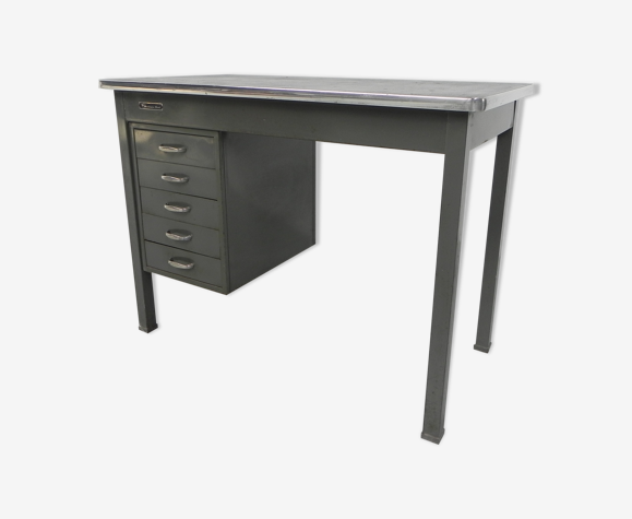 Industrial steel desk 70 cm high, Remington Rand