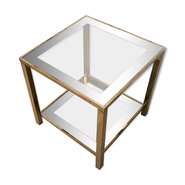 Table d'appoint Belgo Chrom dorée à l'or fin 23K