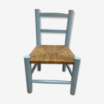 Blue wooden child chair