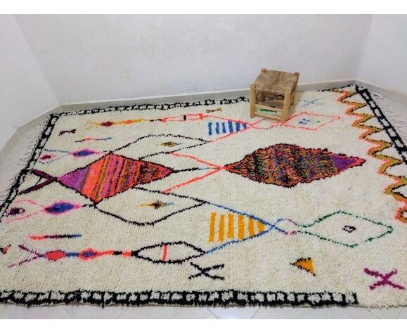 Tapis berbère marocain Azilal coloré 300 x 180cm