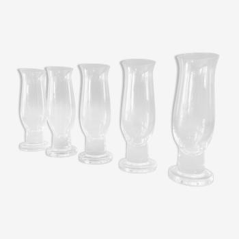 Set de 5 verres design en cristal