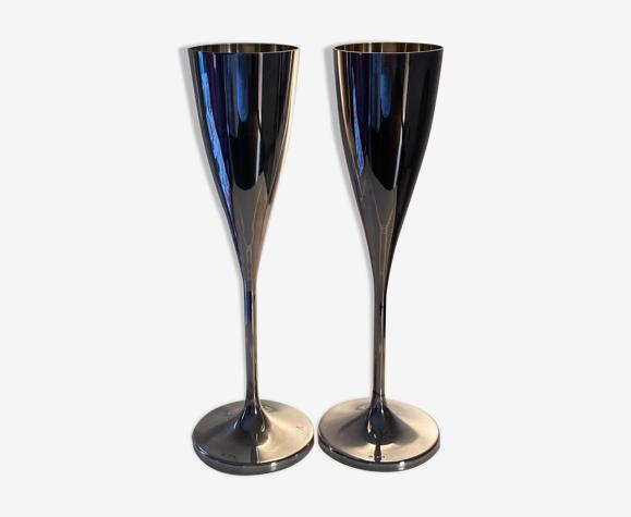 Flûtes à champagne en argent