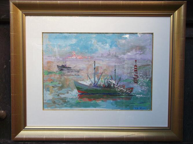 Tableau marine Pierre Adrien Ekman