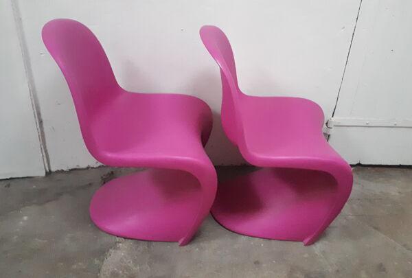 Paire de panton chairs rose de Verner Panton