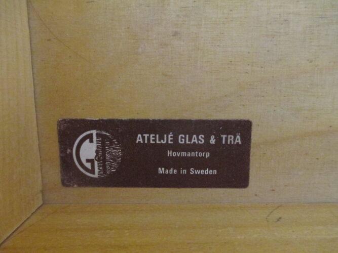 Buffet de Ateljé Glas & Trä, Suède, années 1970