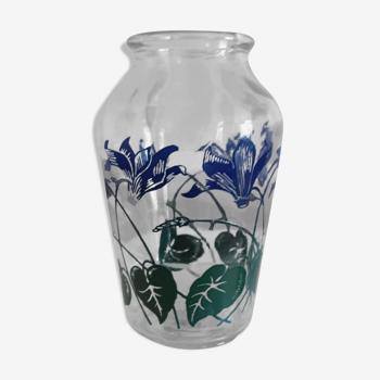 Vase à jacinthe verre - vintage