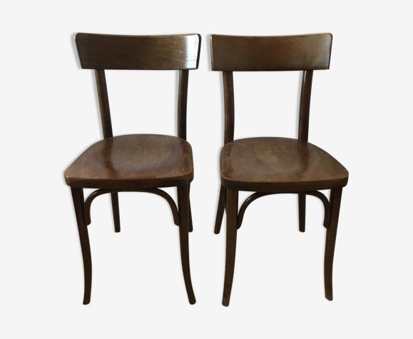 Lot de deux chaises bistrot Thonet