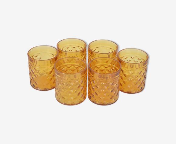 6 verres ambré Pernod