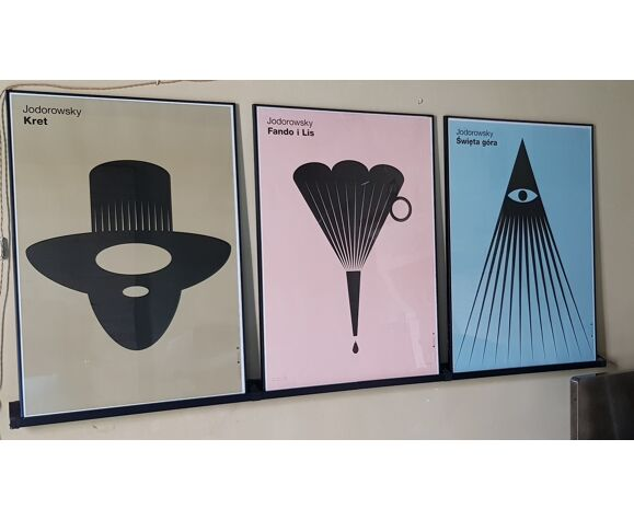 Tryptique affiches films Jodorowsky