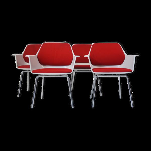 Lot de 4 fauteuils Wilkahn modèle 240-5 par Georg Leowald