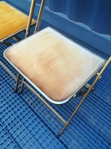 Duo de chaises de théâtre en velours