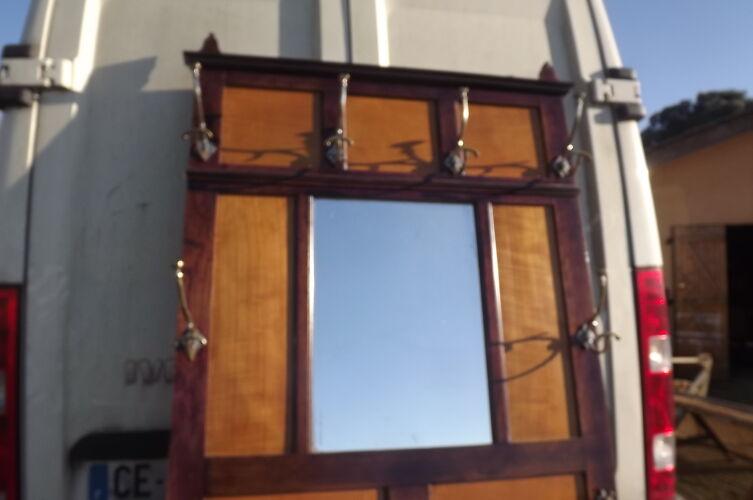 Porte Manteaux Année 30 chène et Chrome