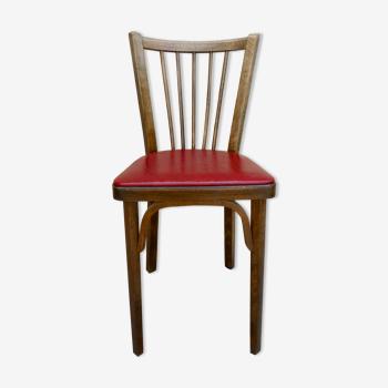 Chaise de bistrot baumann, en bois et skaï