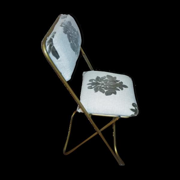 Chaise pliante relookee