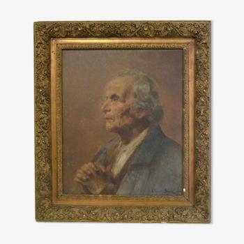Huile sur toile signé Edouard Alexandre Sain