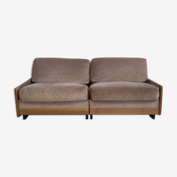 Cassina model 920 rosewood sofa by Afra & Tobia Scarpa for Cassina, 1970s