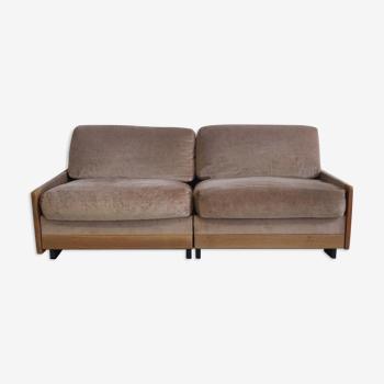 Canapé modèle 920 en bois de rose par Afra & Tobia Scarpa pour Cassina, 1970