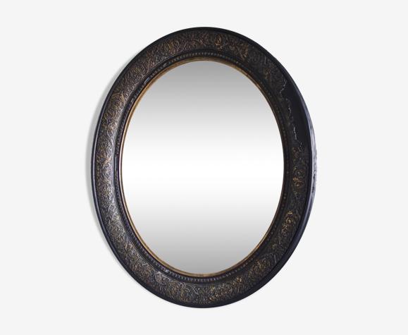 Miroir ovale Napoléon III - 70x60cm