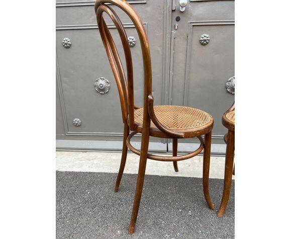 Paire de chaises bistrot bois courbé