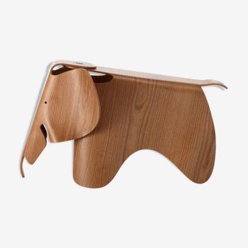 Fauteuil éléphant en merisier Eames