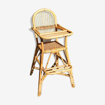 High chair for children in rattan
