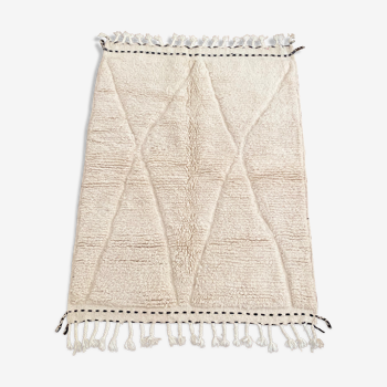 Berber berber carpet beni ouarain white diamond white frame