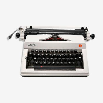 Machine à écrire Olympia Regina de Luxe blanche révisée ruban neuf 1980