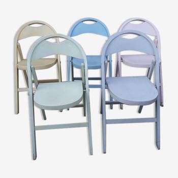 5 chaises pliantes