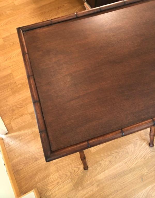 Table pliante bambou époque début XXeme vintage