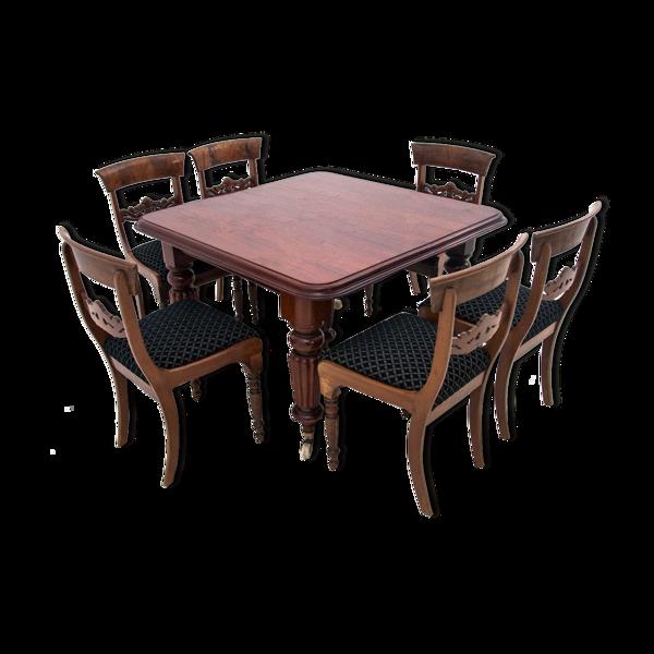 Selency Table avec six chaises, Europe du Nord