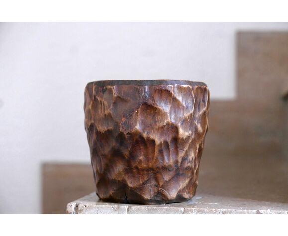 Pot en bois, années 70