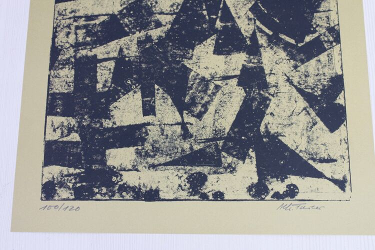 Lithographie d'Alfred Furler années 70