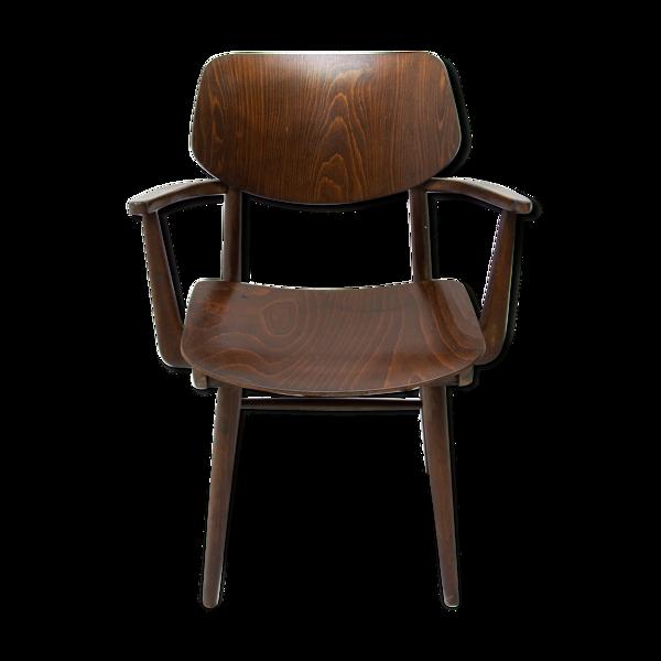 Chaise de bureau en bois de hêtre du milieu du siècle par Ton, 1960, Tchécoslovaquie