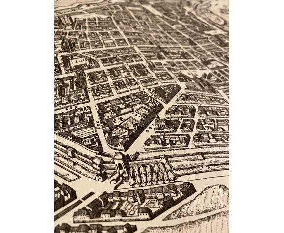 Plan de la ville de Paris début du XVIIème siècle