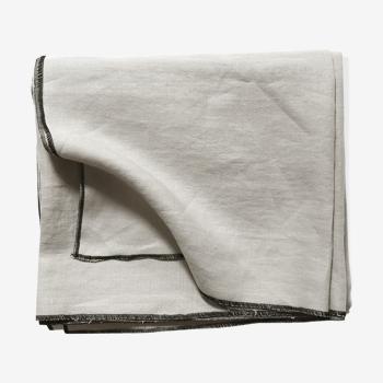 Chalk linen tablecloth
