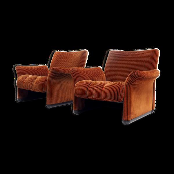 Paire de fauteuils par Vico Magistretti pour C&B Italia,1968