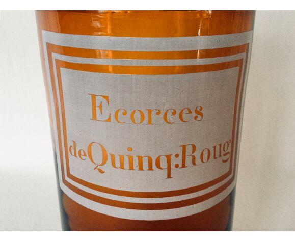 """Pot à pharmacie """"ecorces de quing:roug"""""""