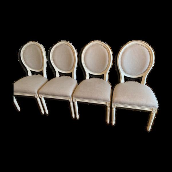 Selency Lot de 4 chaises a manger