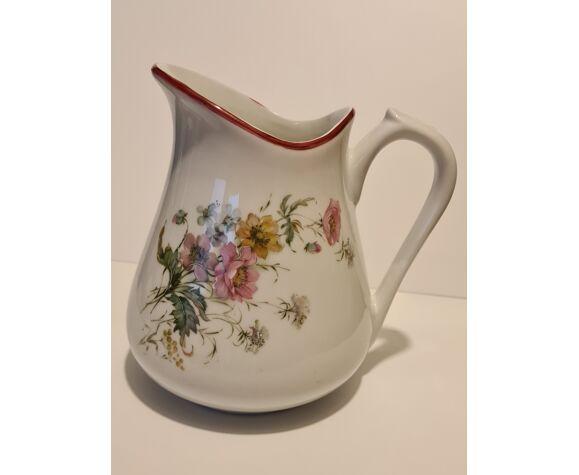 Pichet porcelaine PF décor floral