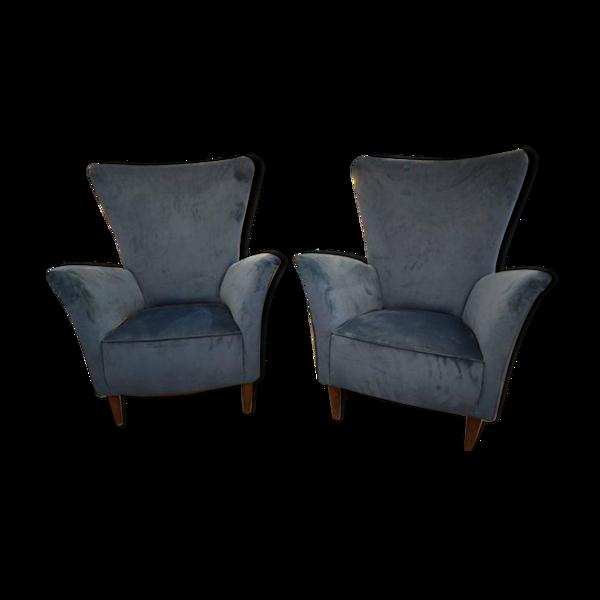 Selency Paire de fauteuils italiens circa 1960